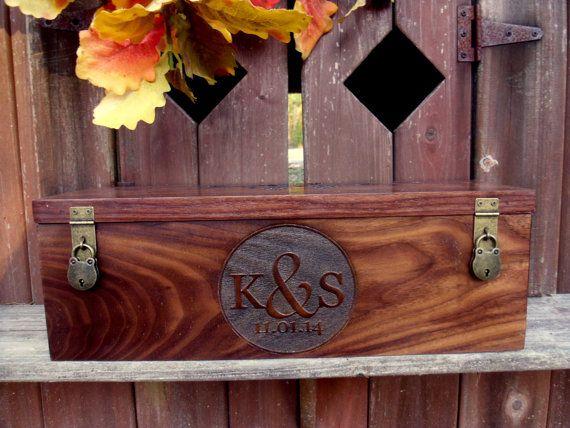 Wine Box for Wedding Wine Box Ceremony Anniversary by MossyHoller
