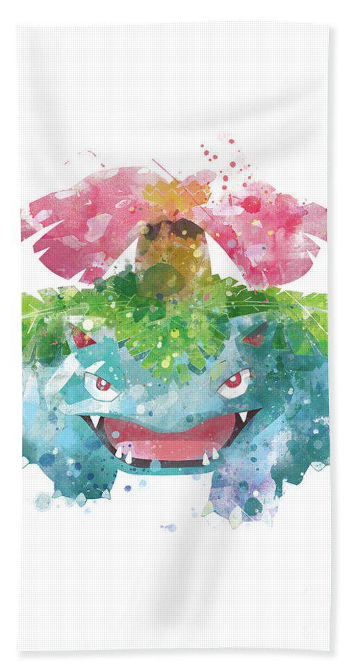 Pokemon Venusaur Beach Towel #pokemon #pokemongo #towel #digital