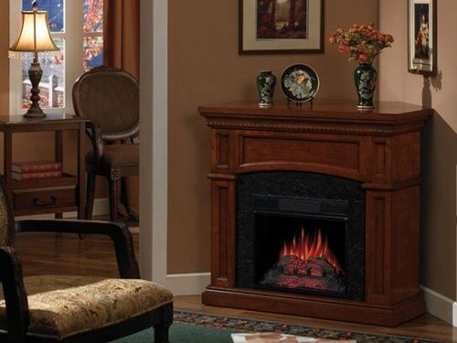 Tremendous Faux Fireplace Wood Trim Tile And An Electric Log Best 25 Home Interior And Landscaping Ponolsignezvosmurscom