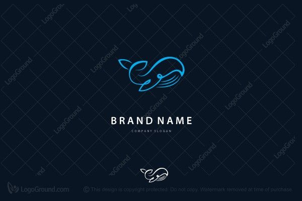 Logo for sale: Organic Whale Logo