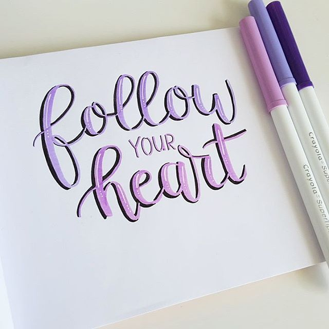 Monday's are great when you have the day off and can letter all  morning  . . .  #letteringwithpositivity #handlettering #lettering #loveforlettering #crayola #crayolamarkers #crayoligraphy #crayolasupertip #blending #crayolablending #brushlettering  #quote #followyourheart #handletteren #handgeschreven #creatief #handdrawn #50words #dailytype #goodtype #letteringonsunday #calligrafriends