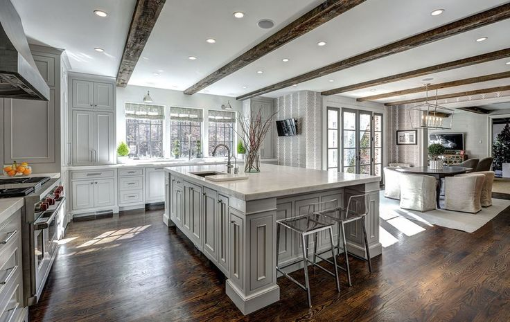 Raised cabinets; built in appliances; two sinks