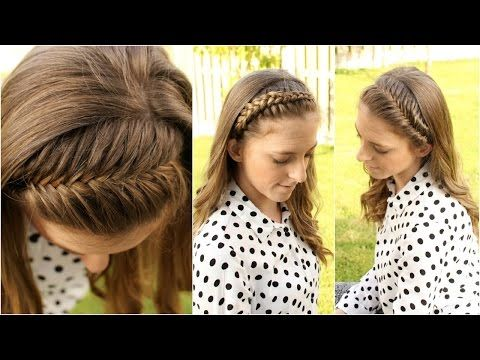 She Parts Her Hair Right Above Her Left Ear. Now Watch What She Does With The Front...