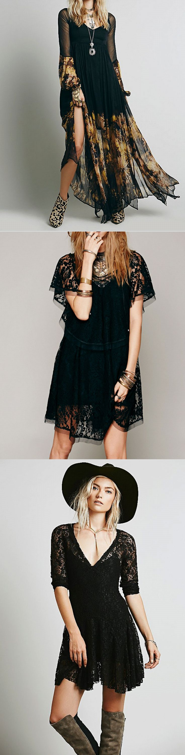 Shop black goth witchy gypsy dresses at RebelsMarket!
