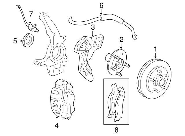 Details About Front Wheel Bearing Hub Assembly 1997