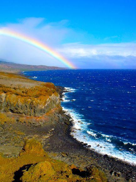 Rainbow, Maui Photograph by Robert Langley