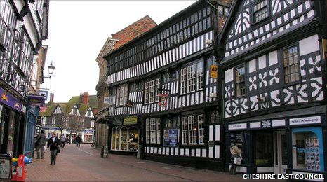 Nantwich, a lovely little village in Cheshire :D Sells amazing cakes ;) XD