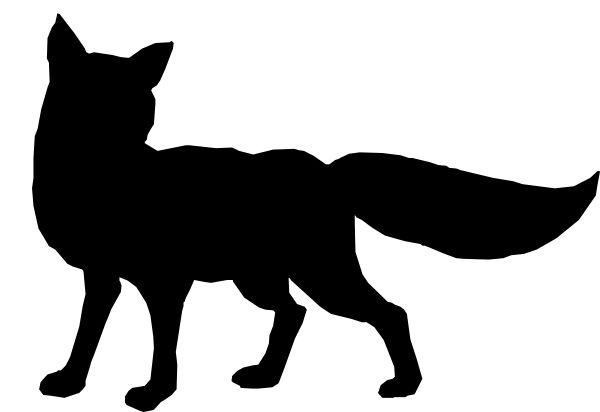 fox silhouette running - Google Search