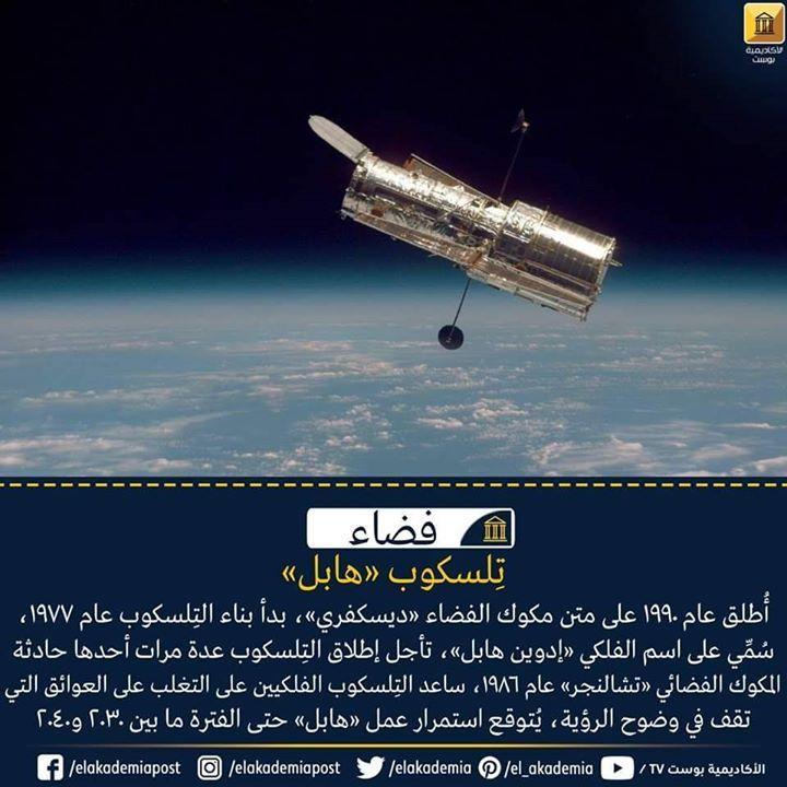 تلسكوب هابل أطلق عام على متن مكوك الفضاء ديسكفري بدأ بناء