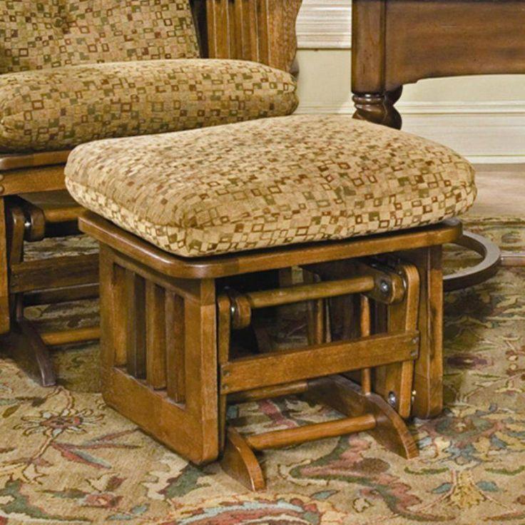 Brooks Furniture Mission Dark Oak Ottoman Clemson Diamond Dark Red - 1903-4129-02
