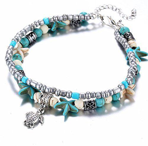 Femme Bohême Bracelet Cheville Étoile de Mer Pied Chaînes Bijoux Plage Cadeau
