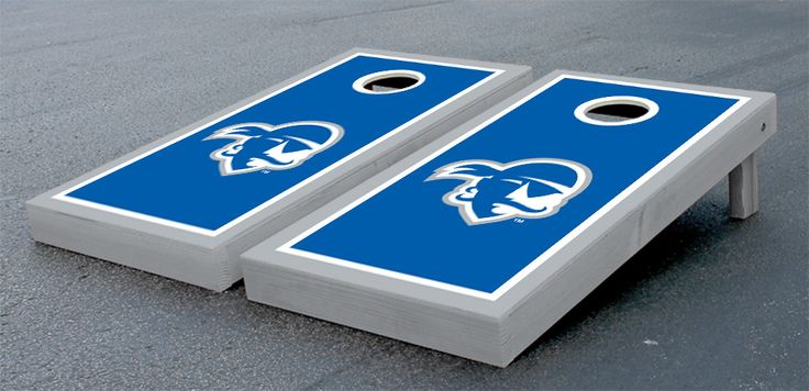 NCAA Seton Hall University Pirates Border Wooden Logo Cornhole Game Set
