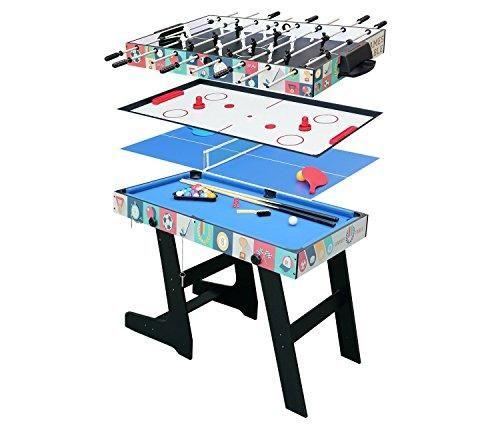 Oferta: 162.99€ Dto: -59%. Comprar Ofertas de HLC® Mesa Multijuegos Plegable 4 en 1 Incluye: Mesa de Billar,Ping Pong,Air Hockey y Futbolín (109 x 60,5 x 82cm) barato. ¡Mira las ofertas!
