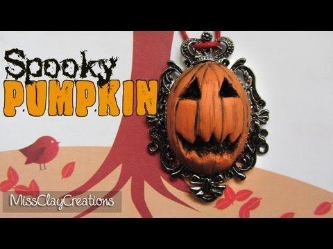 ▶ Pumpkin Pendant tutorial by MissClayCreations - YouTube
