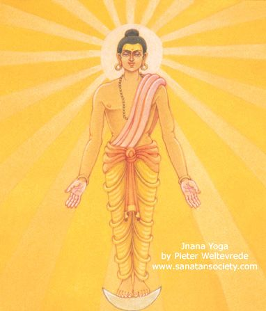 The path Jnana Yoga or right knowledge (Gyana Yoga)