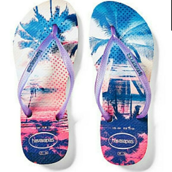 Victoria's Secret Pink  Hawaiian  Flip Flops Victoria's Secret Pink Hawaiian Flip Flops Victoria's Secret Shoes