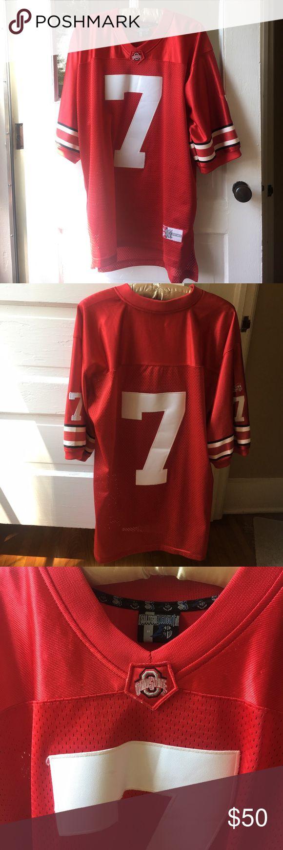 Ohio State Football Jersey #7 Ohio State Football Jersey #7. Size M.  Unisex. Silver Knight Sportswear. In great condition! Silver Knight Sportswear Tops Tees - Long Sleeve