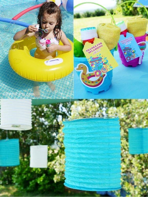 Pool Party Ideas Kids Summer Printables Valeria S Birthday