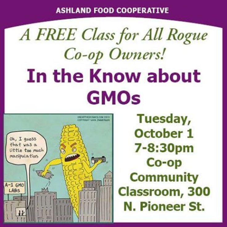 Ashland, OR A free class for all Rogue Co-op Owners! Whether you're a member of a credit union, the Grange Co-Op, Ashland Food Co-op or Medford Food Co-op we'd love to have you!  www.ashlandfood.coop Click flyer for more >>