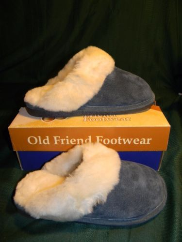 Old Friend Womens Scuff Slipper - Navy Blue - Size Large 8 - 9 Wide - shoes.goshoppins.... women's slippers - http://amzn.to/2ikL0vs