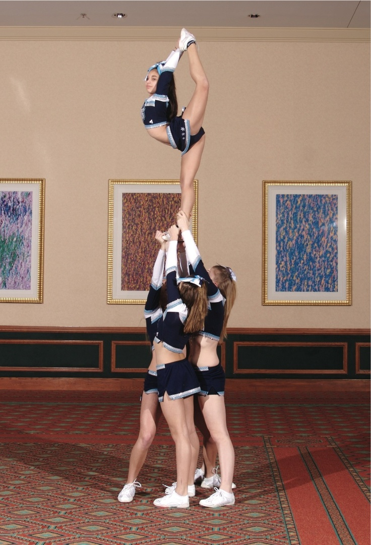 cheer stunt scorpion cheer pinterest high