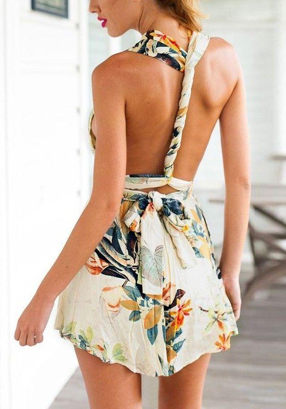 Pastoral Print Magic Dress//