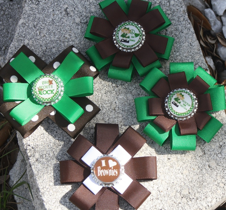Girl Scout Hair Bow. Girl Scouts. Brownies Hair Bow. Daisy Hair Bow. Bow for Girl Scouts. $6.99, via Etsy.