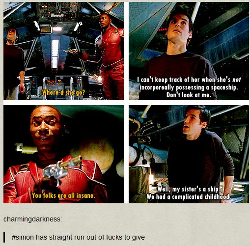 Not only my favorite lines of my favorite episode by far of firefly...but that comment at the bottom.