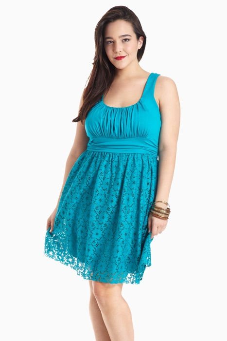 Fashion to Figure | Plus Size Not-So Plain Jane Dress with Lace Skirt
