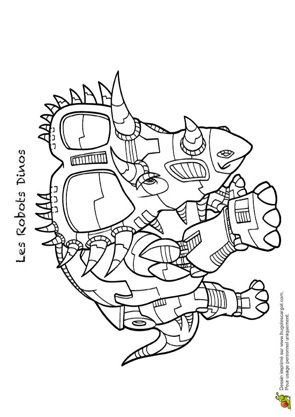 63 best coloriages de dinosaures images on pinterest - Coloriage de robots ...