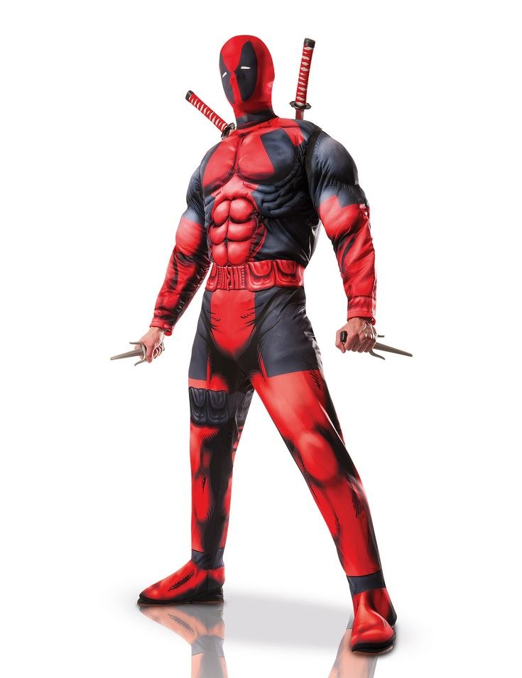 Déguisement adulte luxe Deadpool™ : Ce déguisement luxe adulte est sous licence officielle Deadpool™. Il se compose d'une combinaison, une ceinture et une cagoule (armes et chaussures non incluses).La combinaison...