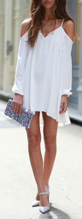 Cold shoulder dress.