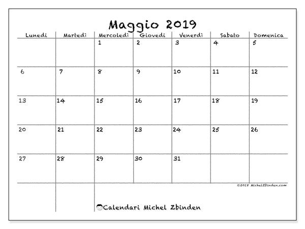 Calendario Annuale Da Stampare 2019.Calendari Da Stampare Calendario Calendario Settembre