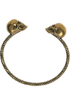 #AlexanderMcQueen- long live McQueen! swarovski crystal skull bracelet.  so goth yet so tres chic! $330