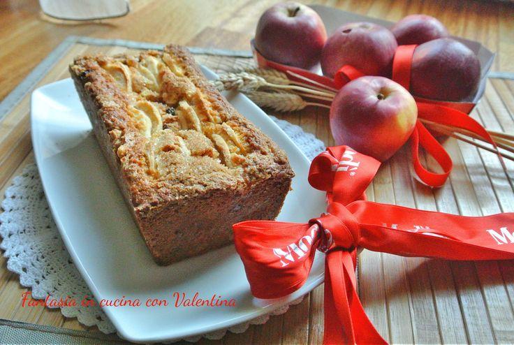 Plum+cake+mele+e+muesli