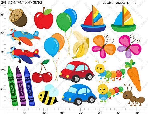 Alphabet Clipart Part 1 ABC clip art School by pixelpaperprints