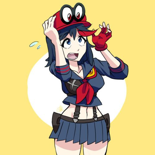 Kill La Kill & Super Mario Odyssey --- Sentient clothing