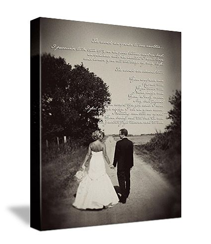 Canvas with first dance song lyrics - So cute for the home :)