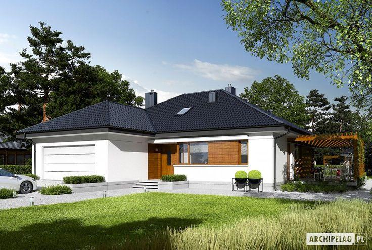Astrid G2   to nowoczesny dom, zaprojektowany z myślą o rodzinie, która chce mieszkać wygodnie, przytulnie i w harmonii z naturą. Dużym atutem projektu są szerokie przeszklenia, dzięki którym wnętrze wyróżnia jasny i przestronny charakter. Uwagę zwraca również świetnie zorganizowany układ...