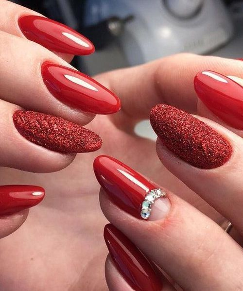 Super Clic Red Hot Crystal Nail Art Designs To Look Stunning On Your Day E2k Fashion