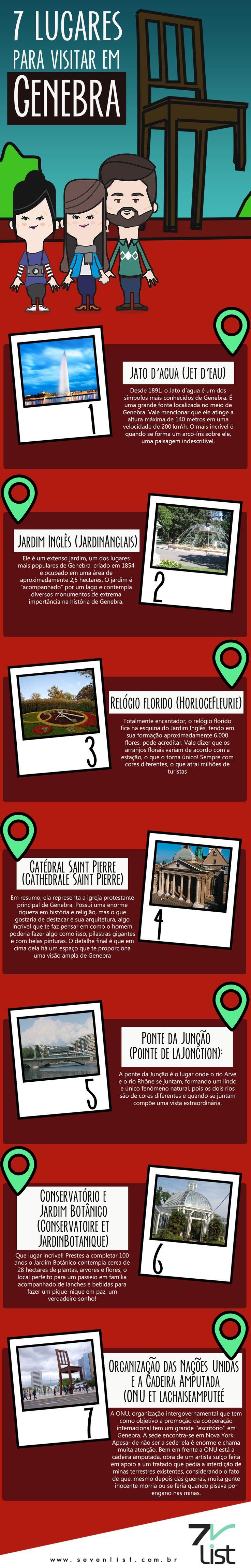 Hoje o Seven List trouxe uma lista mega especial para quem gosta de turismo e claro de conhecer novos lugares. Diretamente de Genebra, na Suíça, trouxemos uma lista com 7 lugares para visitar em Genebra. #SevenList #Genebra #Suiça #Viagem #DicasdeViagem #Trip #Travel #PontosTurísticos #