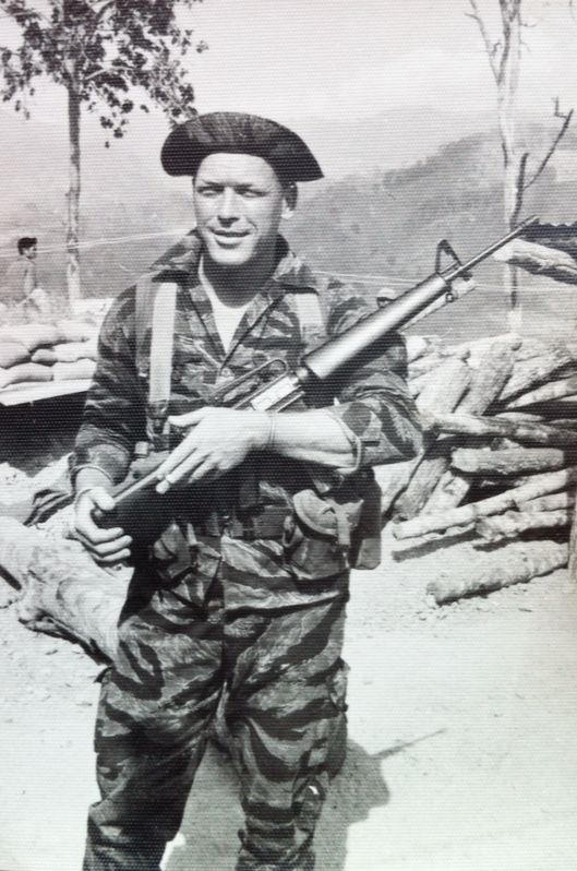 Green Beret in Dak Pek, Vietnam. 82nd Airborne, 5th Special Forces