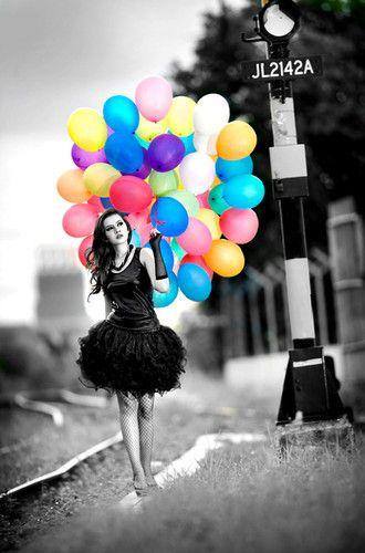 color burst - engagement pics