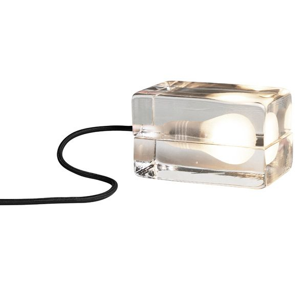 Block Lamp, black cord
