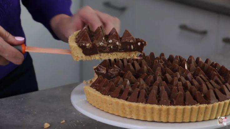 No bake Toblerone tart http://youtu.be/EsfGW2iFgmI
