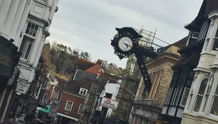"""""""High Street"""". I took this photo to remember out last day of shopping in Winchester."""