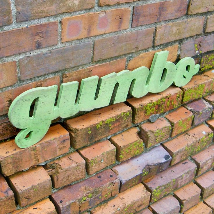 Gumbo Southern Sign Kitchen Cooking Sign Cajun Food New Orleans by SlippinSouthern on Etsy https://www.etsy.com/listing/66815263/gumbo-southern-sign-kitchen-cooking-sign