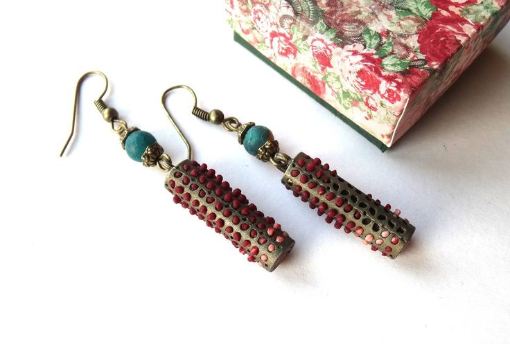 metal beads and polymer clay