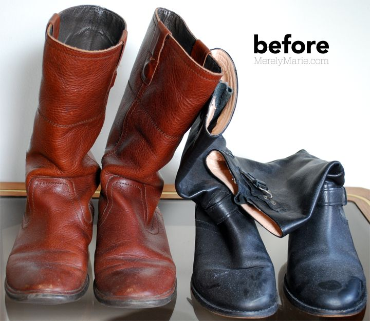 How to make old boots look new.