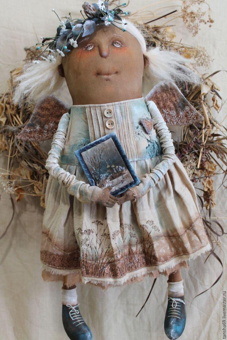 Купить Первые заморозки...Ангел - комбинированный, текстильная кукла, ароматизированная кукла, интерьерная кукла, ангел